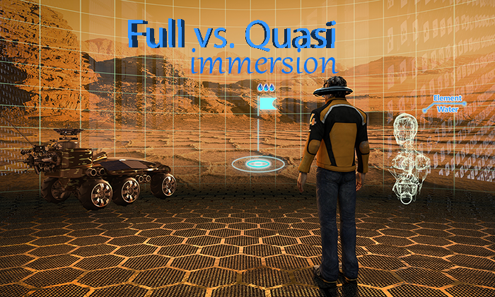 Full Immersion vs. Quasi Immersion: How different types of VR affect content creation